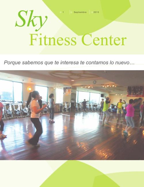 Revista Sky Fitness Septiembre