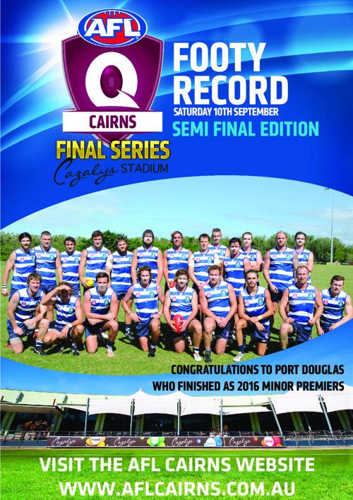 AFL Cairns Footy Record Semi Finals 2016