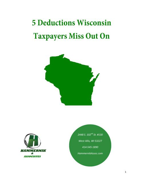 5 Deductions Wisconsin Taxpayers Miss Out On
