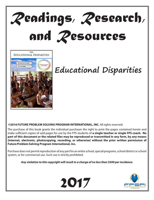 2016-17 RRR Educational Disparities