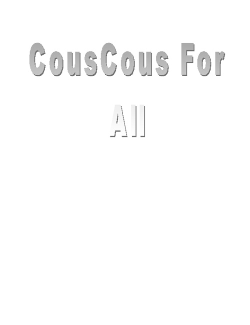 CousCous For All