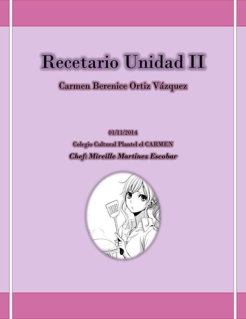 Recetario Unidad II
