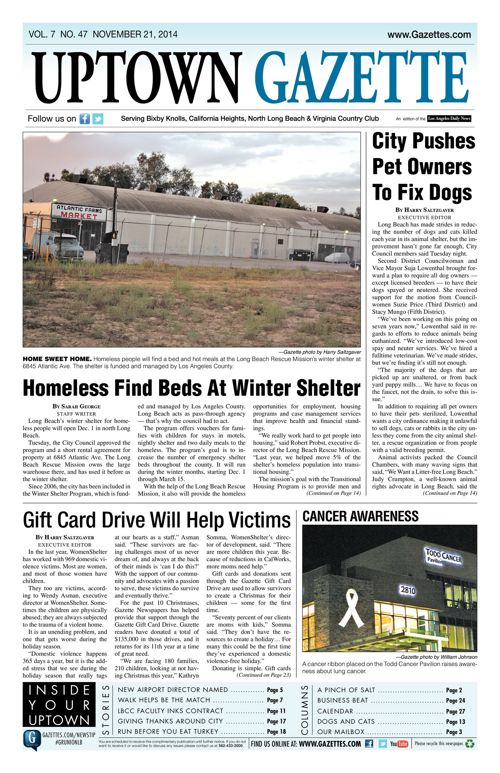 Uptown Gazette     November 21, 2014