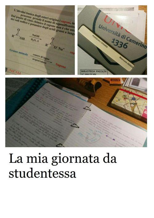 La mia giornata da studentessa