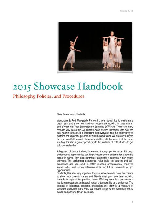 2015 Showcase Handbook for Website