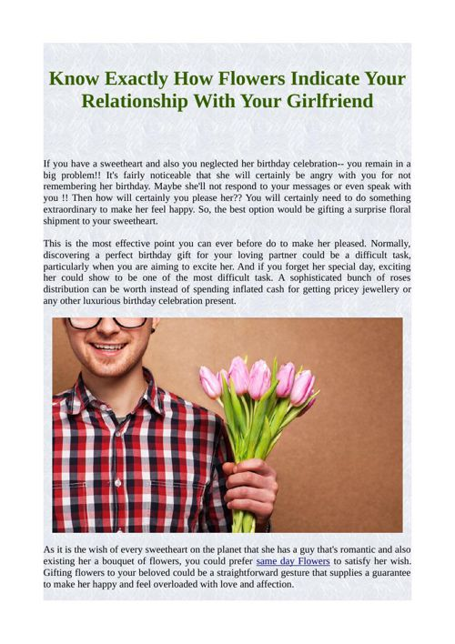 Know Exactly How Flowers Indicate Your Relationship With Your Gi