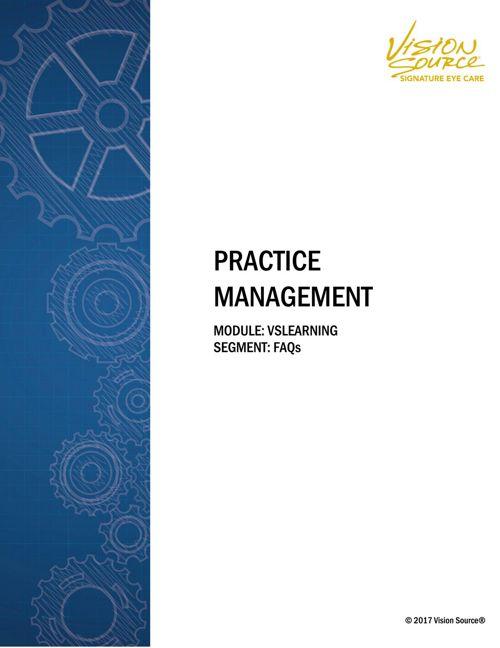 Practice-Management-VSLearning-FAQs