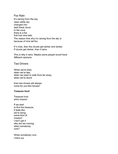 My Poetry FlipBook