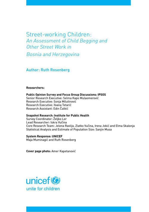 Street-working Children: An Assessment of Child Begging and Othe