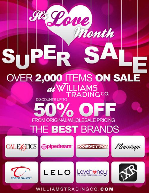 It's Love Month Super Sale - 2016 Williams Trading Co.