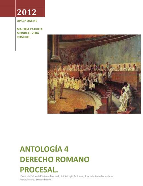 Drecho Romano  Antología 4