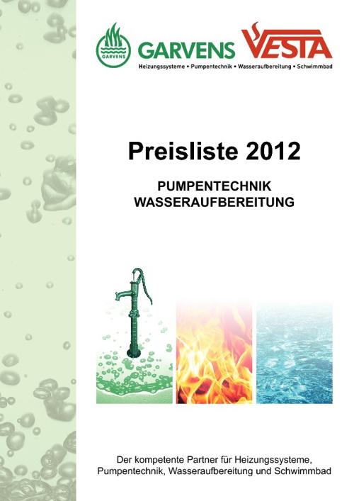 Pumpenpreisliste 2012