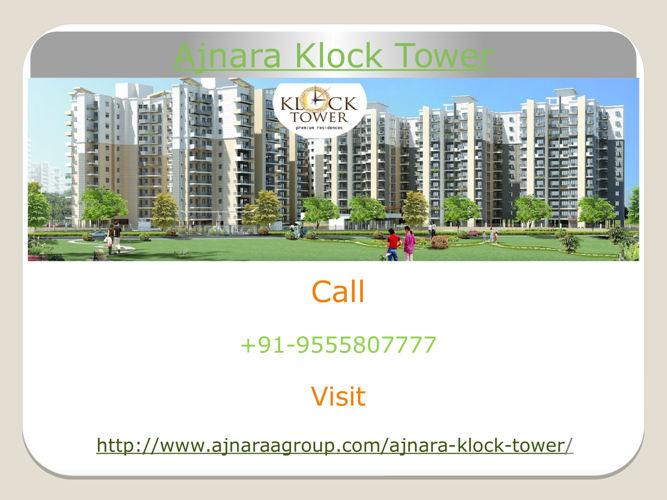 Ajnara Klock Tower offers 2bhk, 3bhk Apartments