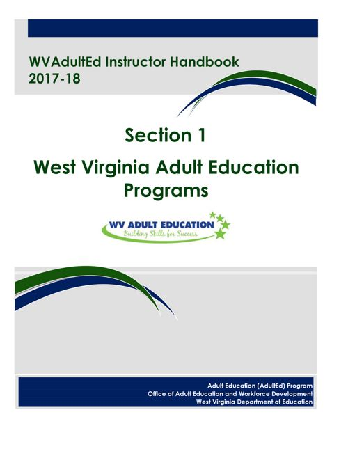 WVAdultEd Instructor Handbook Section 1