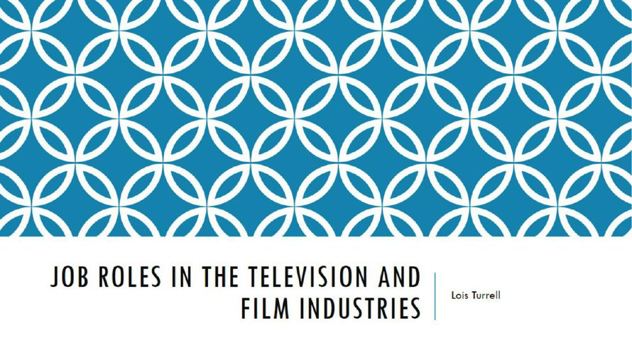 Job roles in the television and film industries