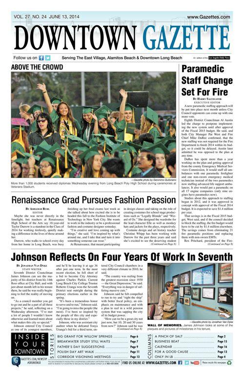 Downtown Gazette  |  June 13, 2014