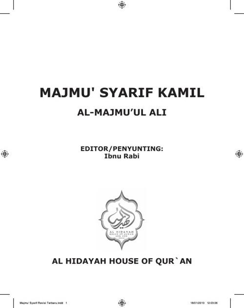 MAJMU SYARIF (Edisi 2009)