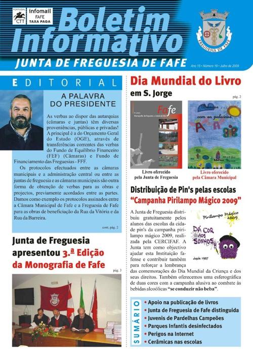 Boletim Informativo N.º 19 - Julho/2009