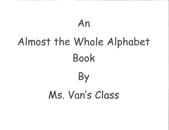 Alphabet book - Van