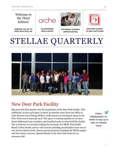Stellae Quarterly Q1 2015