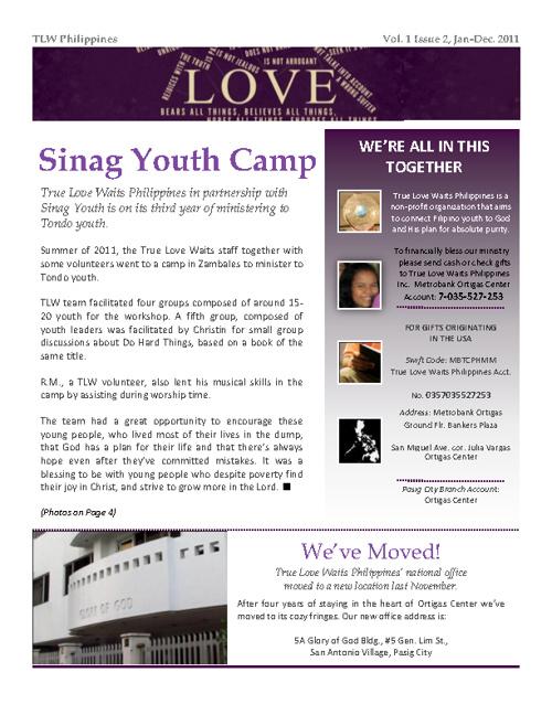 TLWPH 2011 Newsletter