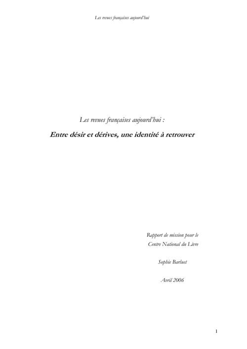 revues françaises