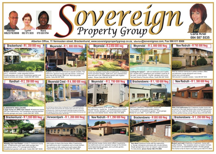 Sovereign Property Group - For Sale In Alberton