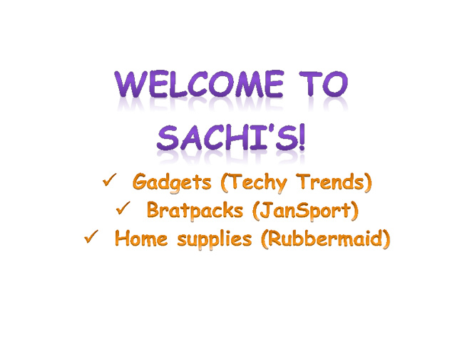 Welcome to Sachi's