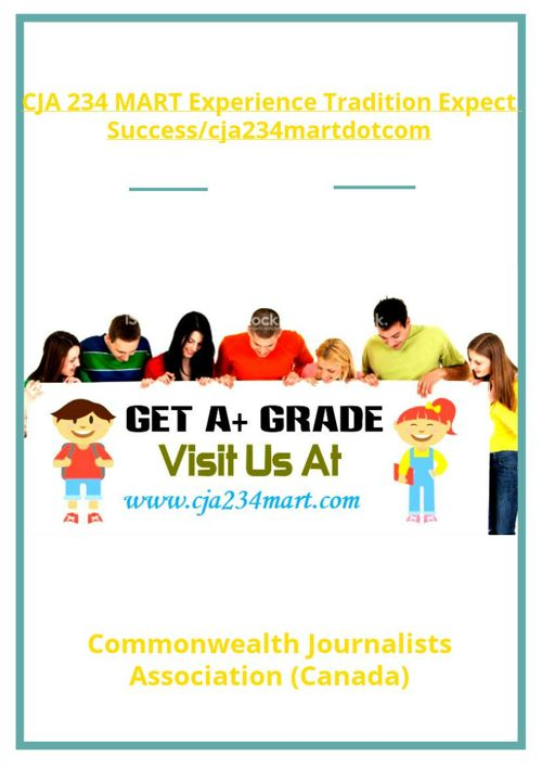 CJA 234 MART Experience Tradition Expect Success/cja234martd