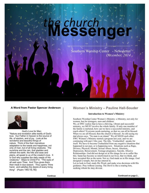 SWC Newsletter December 2014