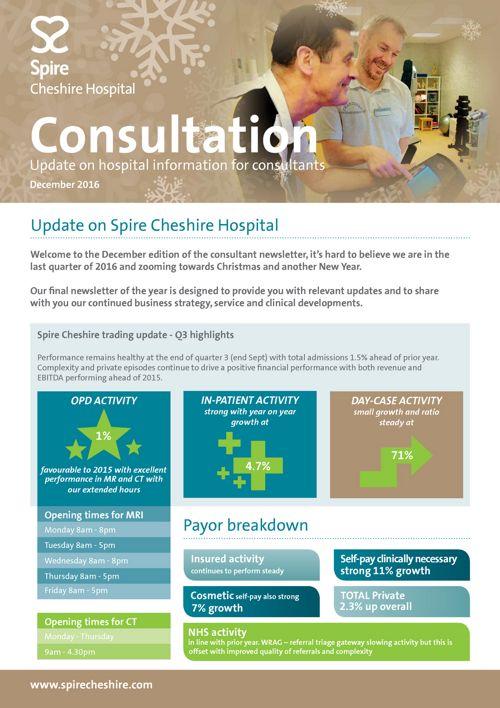 Spire Cheshire - Consultant Newsletter December