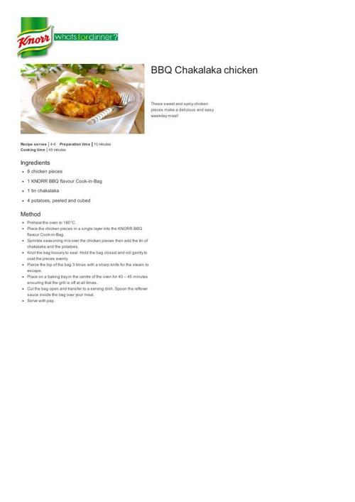 BBQ Chakalaka Chicken Recipe