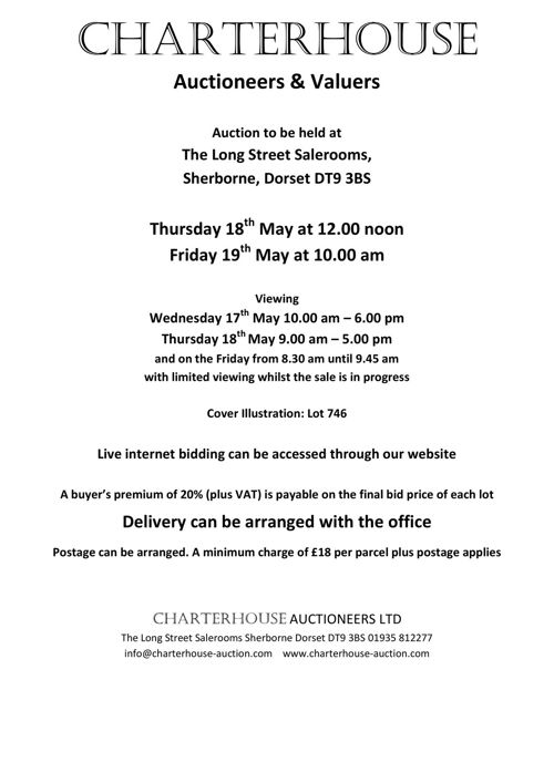Charterhouse May 2017 Antique Auction Catalogue