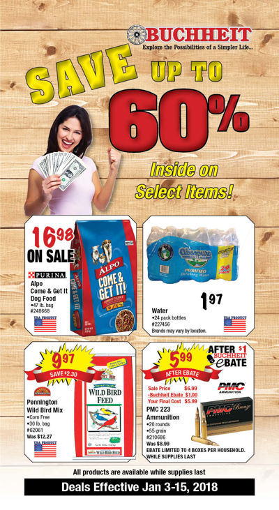 Ad 1801 Save 60% 2nd Sat.