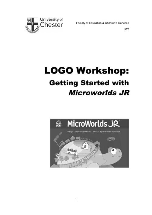 Microworlds JR Handbook