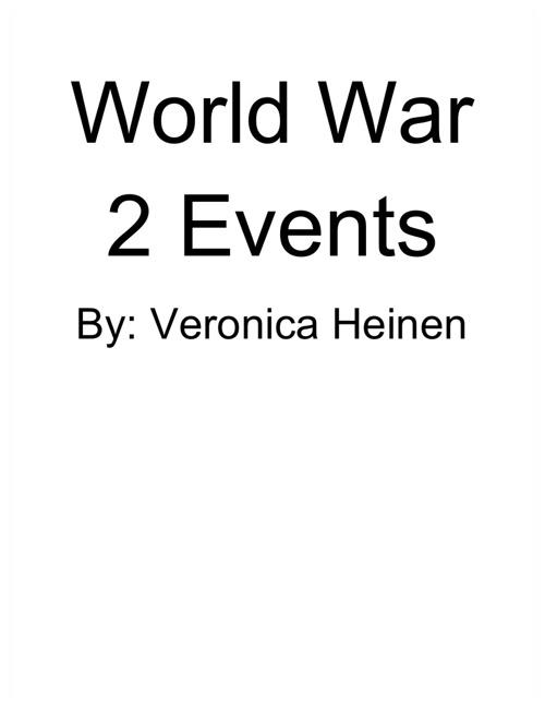 WW2 Events