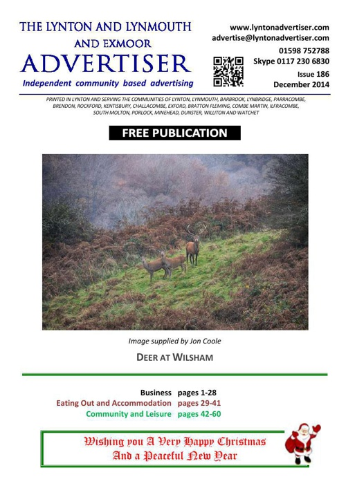 Lynton & Lynmouth Advertiser - December 2014