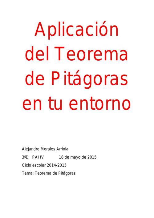 Aplicación del Teorema de Pitágoras en tu entorno