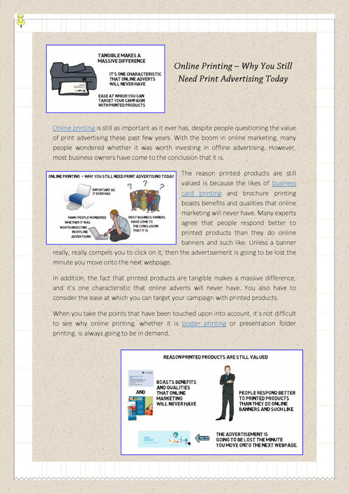 Online Printing – Why You Still Need Print Advertising Today