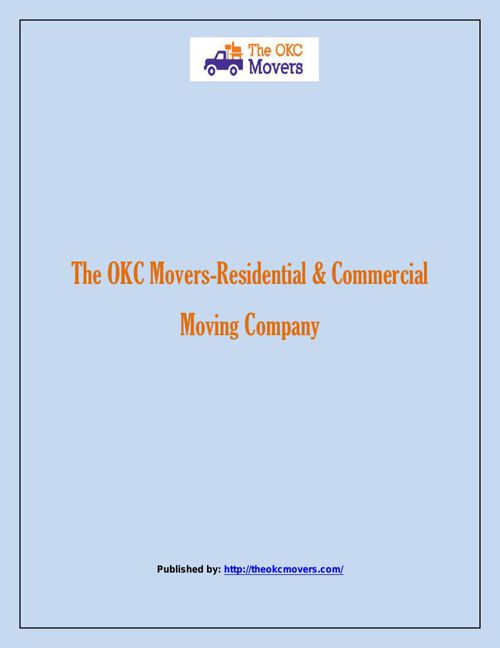 The OKC Movers-Residential & Commercial Moving Company