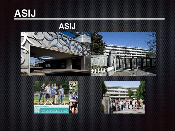 調布第一とASIJの違い比べの表紙Keynote