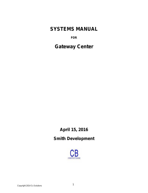 Systems Manual