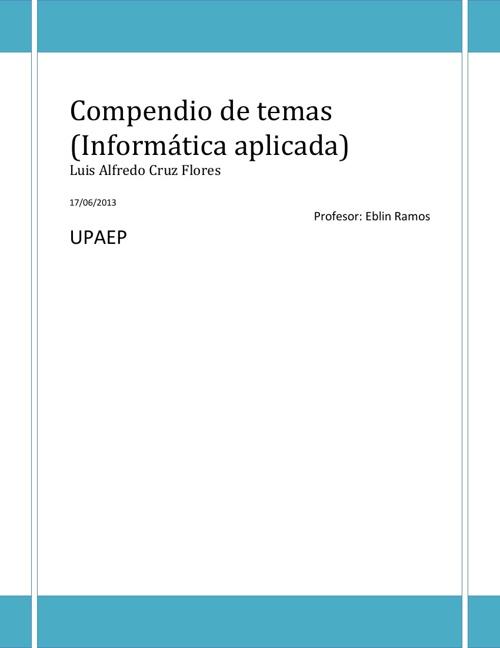 Compendio Informática Aplicada