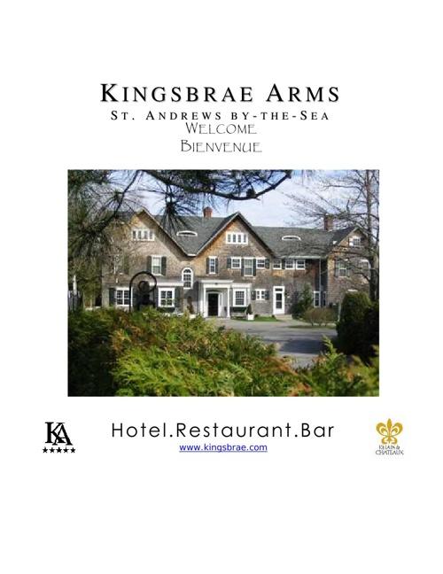 Kingsbrae Arms eBrochure 2013