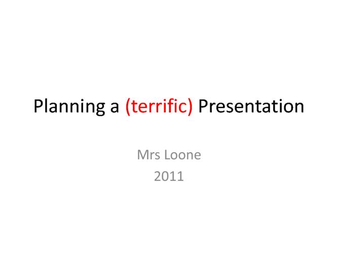 Belinda's Presentation