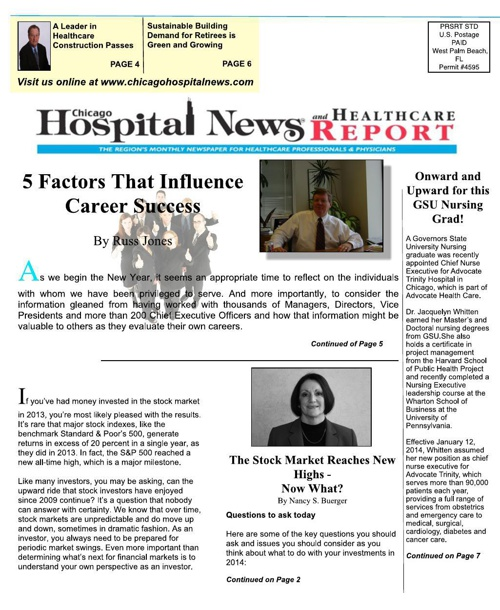 Chicago Hospital News and Healthcare Report - Issue #1 2014