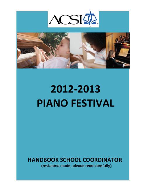 Piano Coordinator Handbook