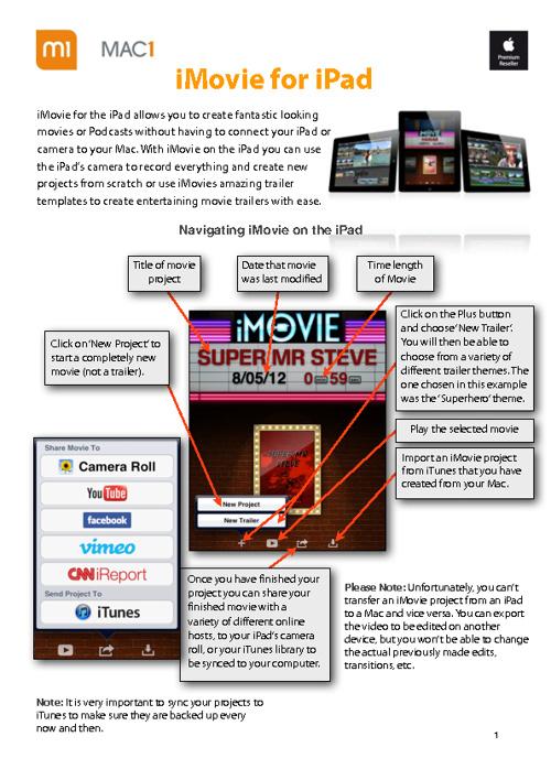 iMovie edited from iPad