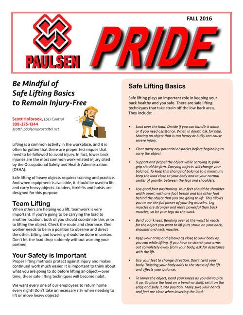 Paulsen Pride - Fall 2016
