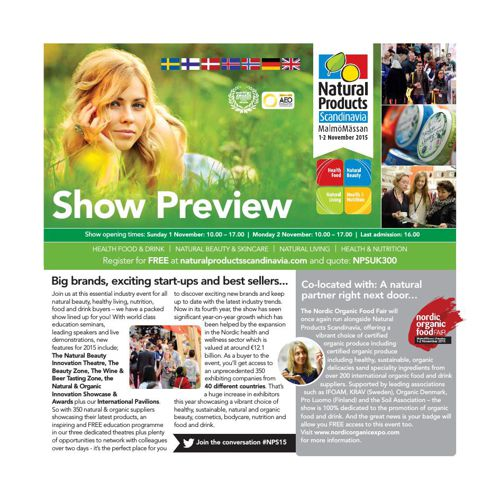 Natural Products Scandinavia 2015 Show Preview